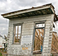 The remnants of a home in the Lower 9th Ward.