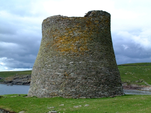 The broch on the island of Mousa where many a storm petrel reside in the summertime.  Credit: Robert Furness.