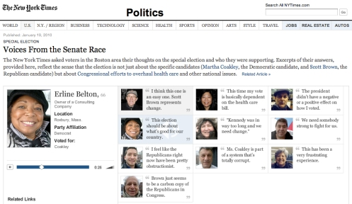 Screen capture from the New York Times.
